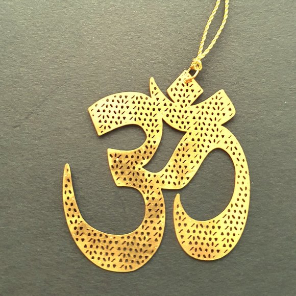 Bookmark Indian Design- metal cutting- Om ॐ ओम्